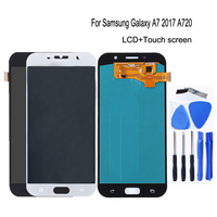 AMOLED for Samsung Galaxy A7 2017 A720 A720F SM A720F LCD Digital Converter Glass Panel Mobile Phone Accessories Free Shipping