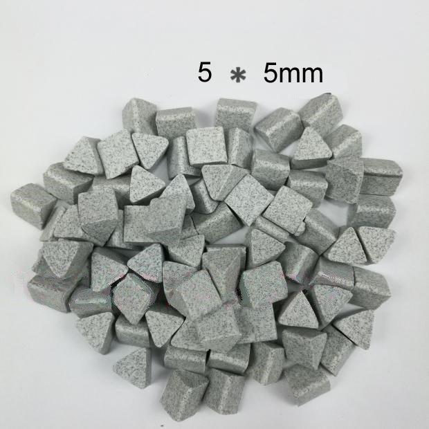 Jewelry Polishing Material Ceramic Stone Polishing Tumbling Media Vibration Tumbler Machine Use Corundum Triangle Abrasive