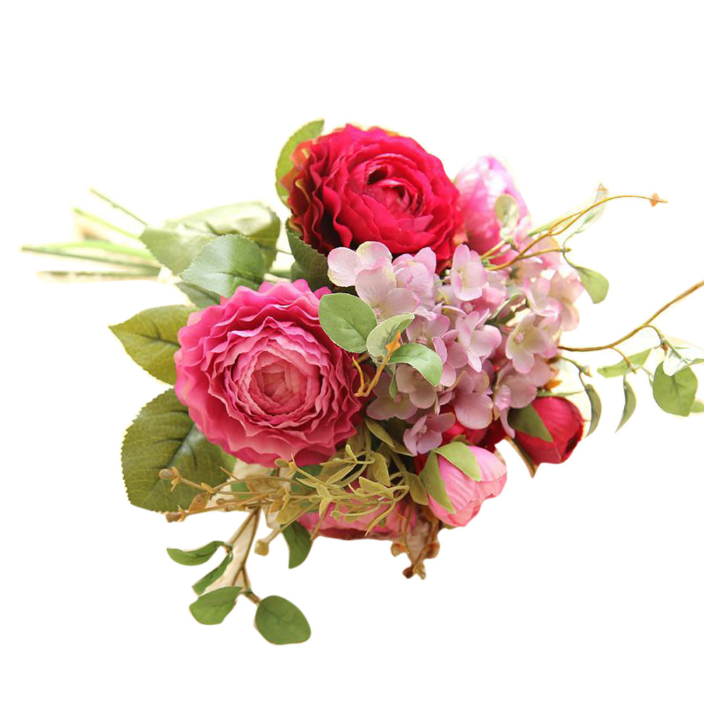 Online buy wholesale lotus wedding bouquet from china lotus 2017 hot sale on artificial fake flowers land lotus floral wedding bouquet party home decor wholesale dhlflorist Image collections
