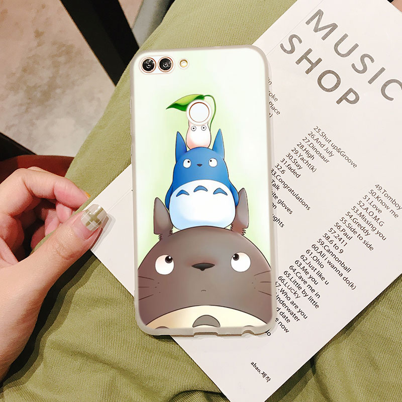 Silicone Case Cute Studio Ghibli for Huawei Nova 3 4 Honor 7C 7A 8 8X 9 10 Y5 Y6 Y7 Y9 V20 Lite Pro 2019 2018 Cover in Fitted Cases from Cellphones Telecommunications