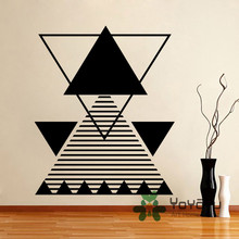 Fashion Triangle Wall Decal Abstract Line Vinyl Sticker Geometric Shape Home Decor living Room Stickers Muraus Poster NY-112