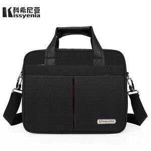 Kissyenia 13 14 15 بوصة حقيبة كمبيوتر محمول الرجال سفر الأعمال حقيبة ساع A4 الكمبيوتر حقيبة للماء حقائب كتف KS1249