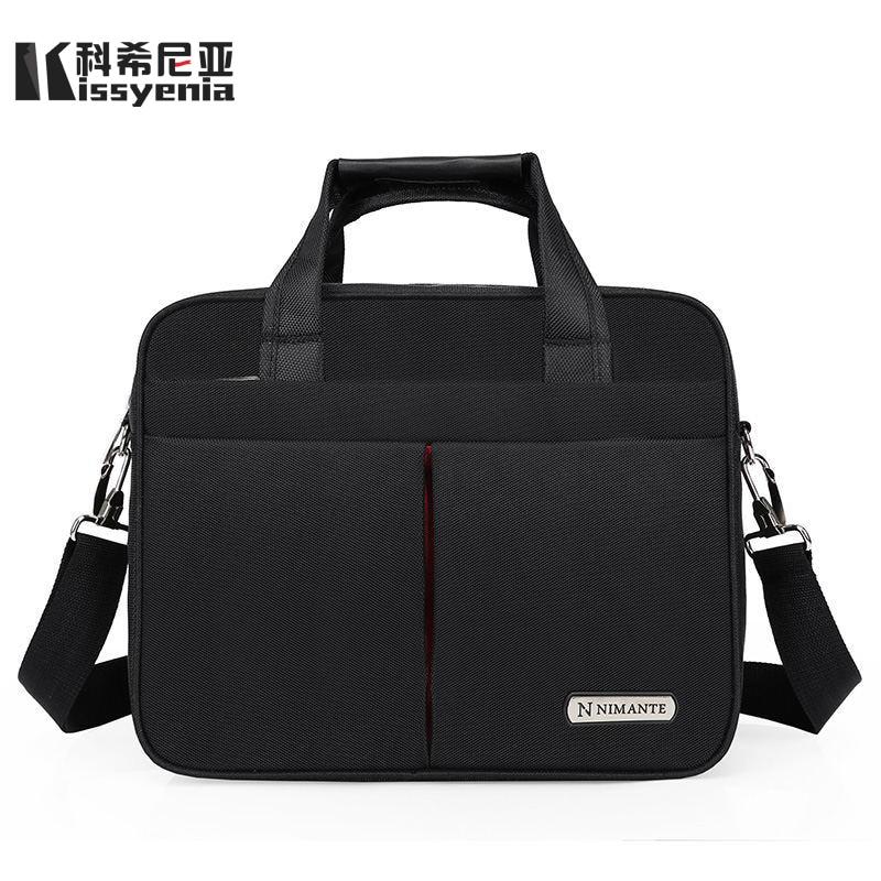 Kissyenia 13 14 15 Inch Laptop Briefcase Men Travel Business Messenger Bags A4 Computer Suitcase Waterproof Shoulder Bags KS1249