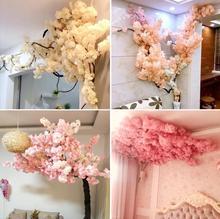 100pcs Artificial Flowers Cherry Blossom Stems Fake Sakura Tree Branches 39.37 for wedding tree decoration