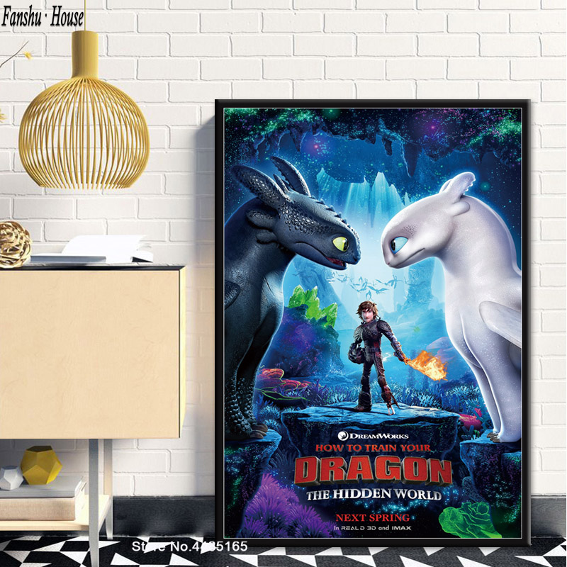 How To Train Your Dragon Classic Movie Poster Art Print A0 A1 A2 A3 A4 Maxi