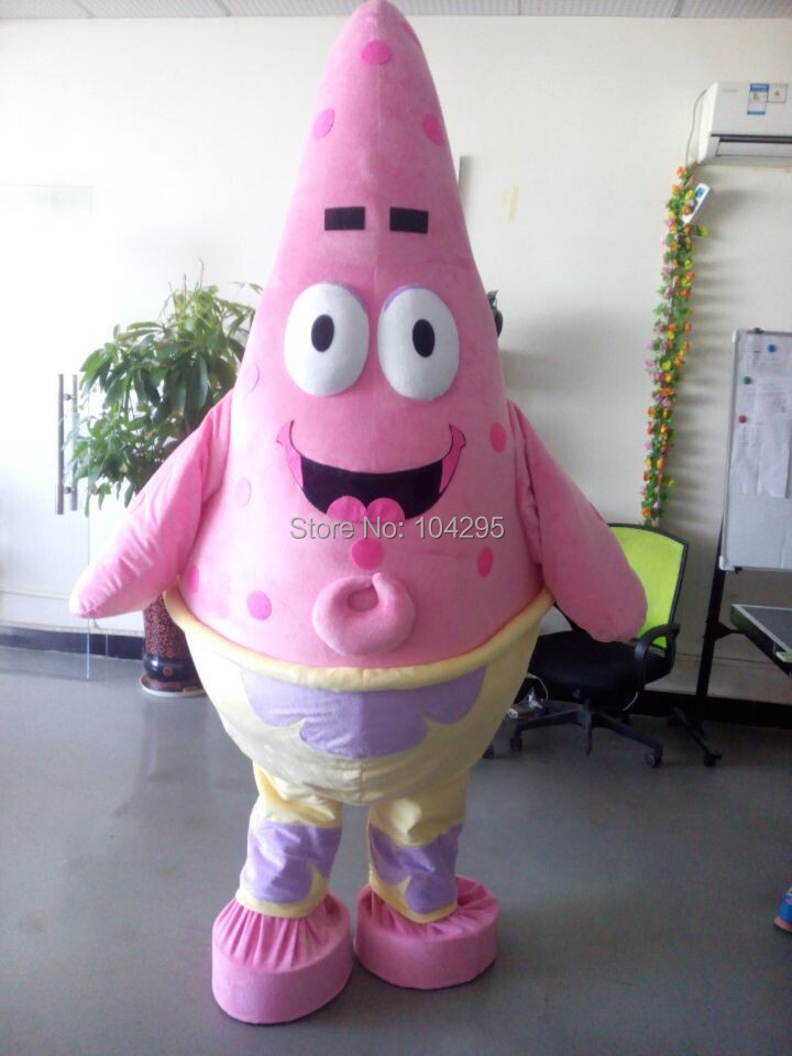 ohlees brand profession Christmas Patrick Star character mascot costumes Halloween adults size costomize free shipping