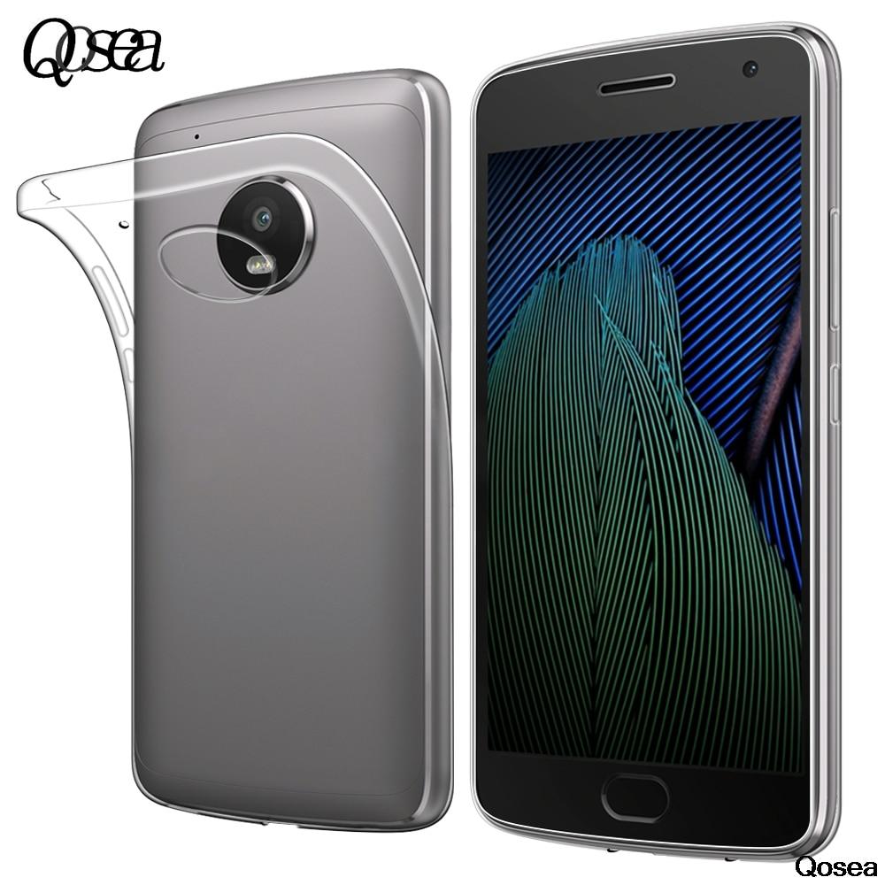 G5 Qosea Para Motorola Moto Más Caso Transparente Ultra-delgado Delgado de Silic