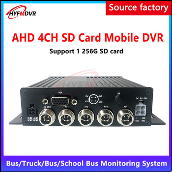 HD 1-4 channel SD card cyclic recording AHD 960P130 megapixel surveillance Mobile DVR private car /excavator/engineering vehicle image