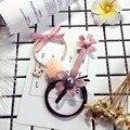 3 Шт./лот 2016 Новая Корея Аксессуары Для Волос Упругие Женщины Девушки Резинки Цветок Кролик Волос Веревки Жемчужные Заколки Головные Уборы набор