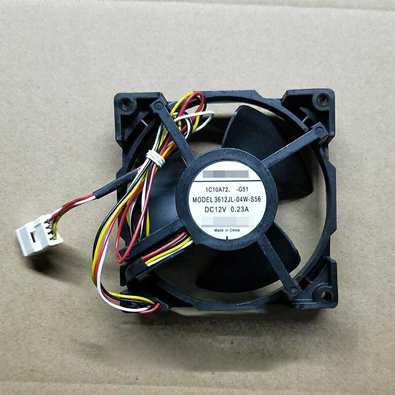 Для NMB 3612JL 04W S56 DC12V 0.23A 4pin осевой вентилятор оборудование вентилятор 92 мм охлаждающий вентилятор процессор кулер радиатор вентилятор