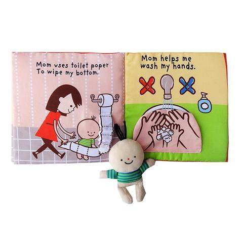 cedo educacional tecido brinquedo 3d leituras brinquedos engracados para toodler bebe