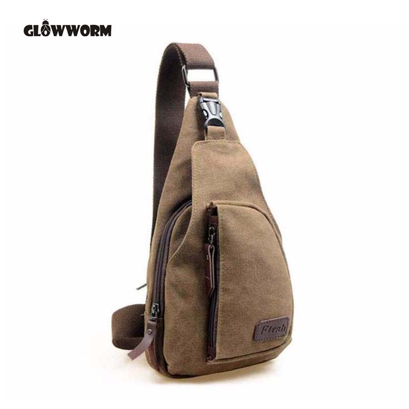 GLOWWORM 2017 New Fashion Man Shoulder Bag Herr Canvas Messenger Väskor Casual Travel Military Messenger Bag Sä en viktig CX377