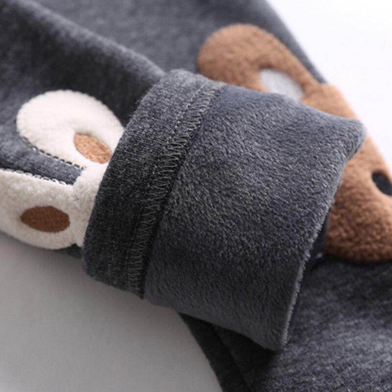 Зимний кролик Толстая Повседневное теплые Обувь для девочек Леггинсы для женщин дети Брюки для девочек Мотобрюки детей Bbay Штаны; одежда бар...