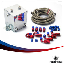 PQY-2L Aluminium Surge tank kit mirror polish Fuel cell 2L Universal Complete Fuel Surge Tank 2 Litre Swirl Pot System kit  TK31