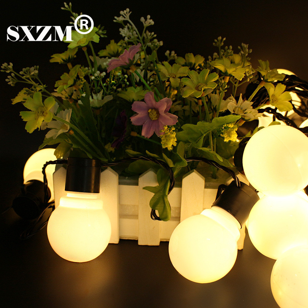 SXZM 10M 38leds led cordes 5CM super grande boule AC110V 220V en - Éclairage festif - Photo 6