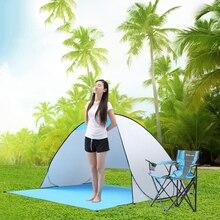 Automatyczne Camping namiot statek z RU namiot plażowy 2 osoby namiot natychmiastowy Pop Up otworzyć anty UV markizy namioty na zewnątrz Sunshelter