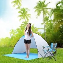 Otomatik Kamp Çadırı Gemi RU plaj çadırı 2 Kişi Çadır Anında Pop Up Açık Anti UV Tente Çadır Açık Sunshelter
