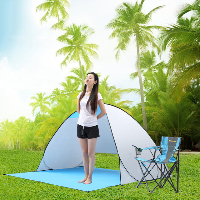 אוטומטי קמפינג אוהל ספינה מru חוף אוהל 2 אנשים אוהל מיידי צצים פתוח אנטי UV סוכך אוהלי חיצוני sunshelter