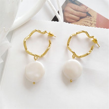 Ear ring sweet irregular earrings contracted pearl Geometric pendant fashion exquisite jewelry earring