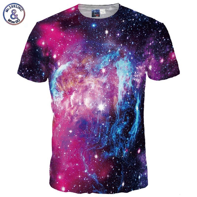 Space galaxy t shirt men women fashion 3d for On fire brand t shirts