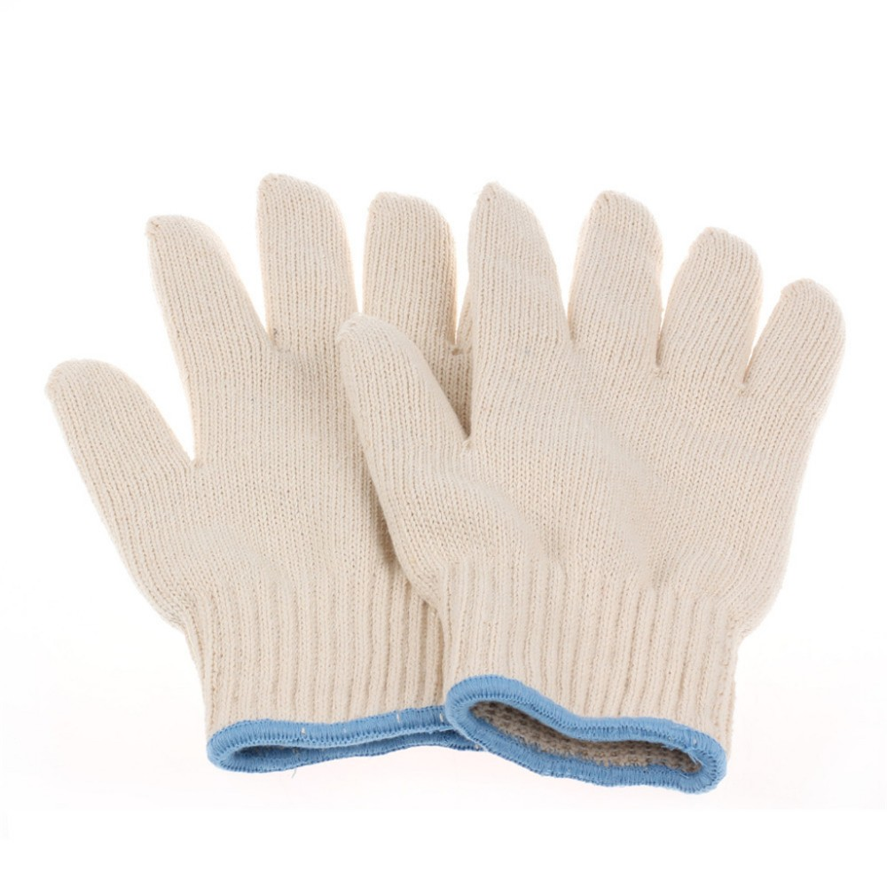 Two layers New producet White cotton heat resistant glove ,safety working glove ,cotton glove,oven glove protect hands alex clark rooster double oven glove