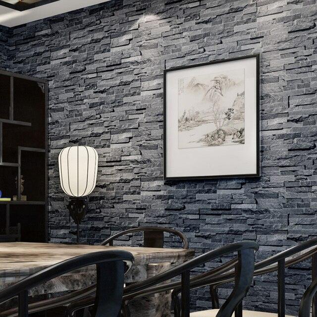 Faux Brick Wallpaper 3d Aliexpress Com Buy Haokhome Vintage Faux Brick Wallpaper
