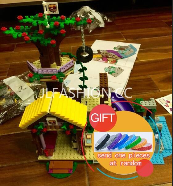 цены 10497 739Pcs Friends Adventure Camp Tree House tire swing Model Building Mini blocks Blocks Girl Toys With 41122 lepin в интернет-магазинах