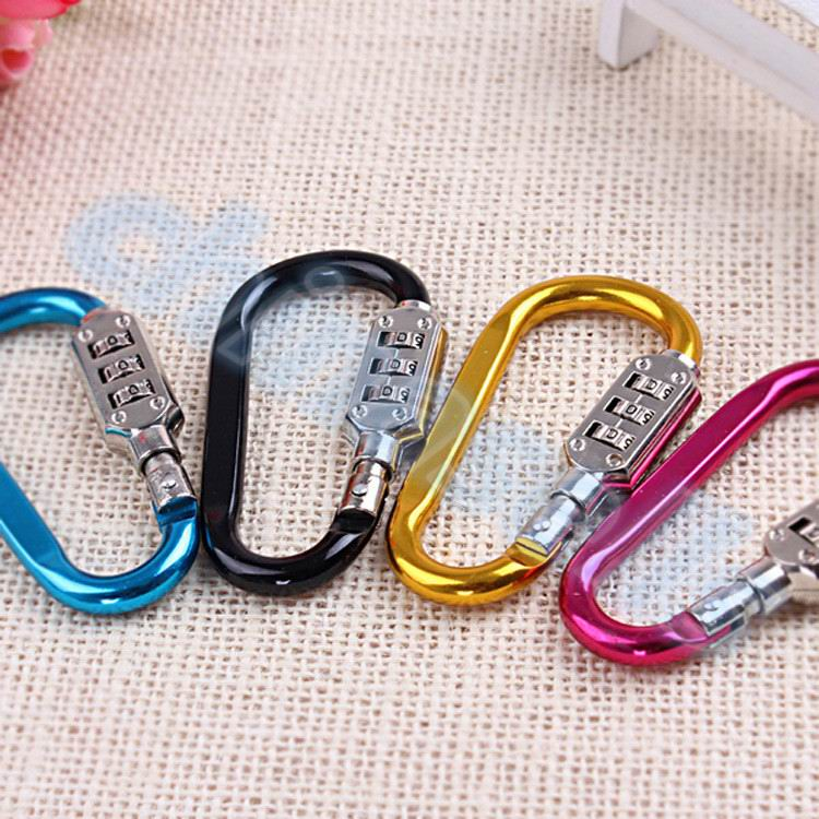 50pcs buckle carabiner lock resettable combination padlock arc shaped rock climbing travel password lock in Outdoor Tools from Sports Entertainment