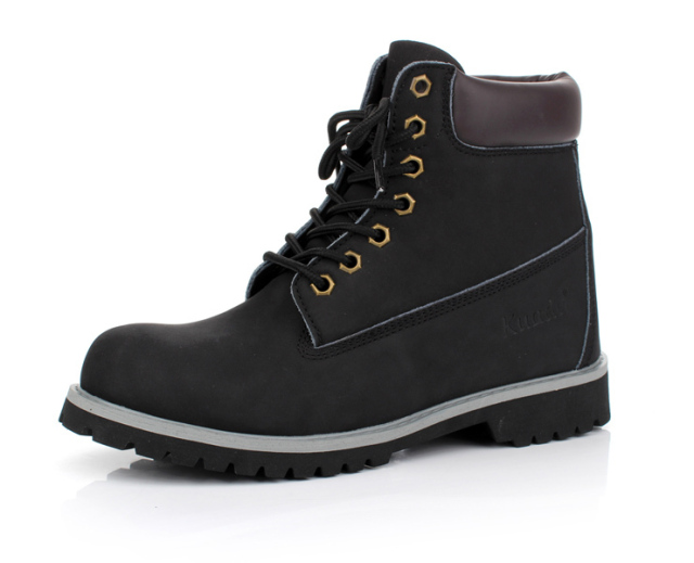 KUADU Free Shipping, men's footwear,Men Boot,Cow split Leather ,Slip resistant Men Shoe