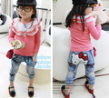 Children's clothing 2013 autumn male female child kt cat water wash denim trousers free shipping cute jeans gril clothes pp