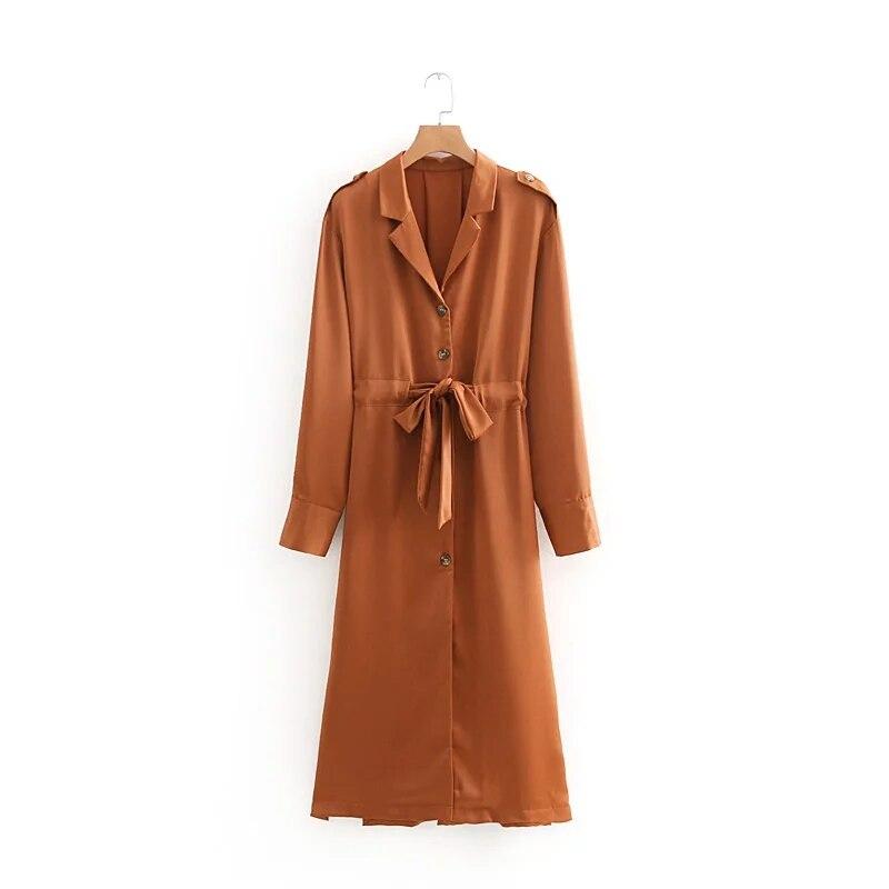 Jenny&Dave dress women vestido high street solid notched sashes collect waist maxi vestidos dress women 2 pieces set top 0810