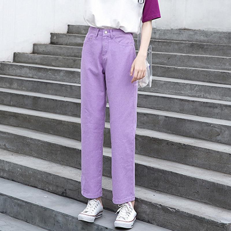 Джинсы женские, большие размеры, черные, бежевые, зеленые джинсы для мам с высокой талией, Джинсы бойфренда для женщин, прямые, повседневные, ...