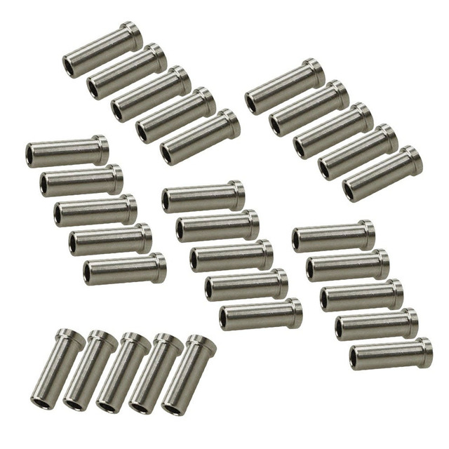 40pcs Stainless Steel Protector Sleeves for 1//8 Wire Rope Cable Railing