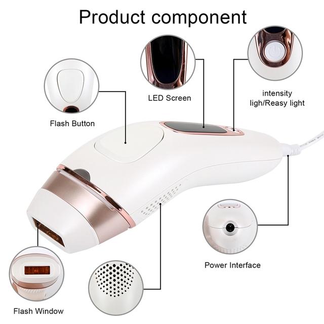 CHJ 200000 Flash IPL Laser Epilator Women Hair Removal Machine Bikini Hair Remover Body Depilador A Laser