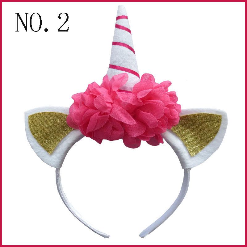 """50 BLESSING Good Girl DIY  4/"""" Unicorn Hair Bow Pony Headband Flower Easter"""
