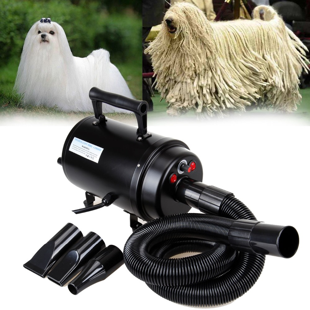 (Ship from UK) 2800W Portable Dog Pet Dryer Blower Animal Grooming Blow Hair Dryer 3 nozzle portable clinic clinical pet animal dog and cat refractometer rhc 300 atc blood protein serum urine plasma