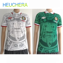 88e56fb9d HEUCHERA 1988 Limited Edition Commemorative Edition Mexico 1998 Retro  Jerseys Home away Mexico Football top Soccer