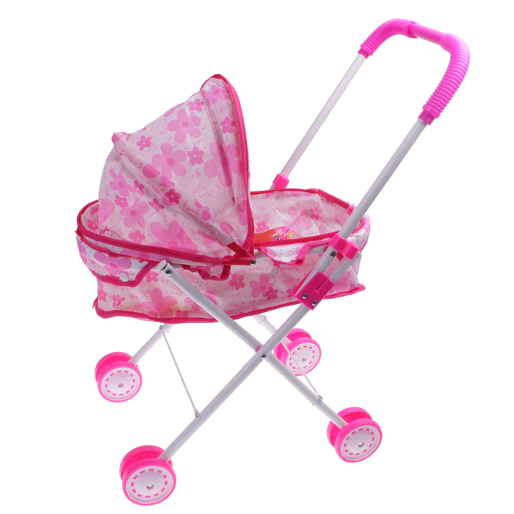 Infant Dolls Pram Us 15 62 30 Off Pink Dolls Pram Set Buggy Pushchair Stroller Toy Baby Doll Cot Girls Present In Dolls From Toys Hobbies On Aliexpress