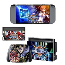 Nintendo Switch Vinyl Skins Sticker For Nintendo Switch Console and Controller Skin Set – For BLAZBLUE CROSS TAG BATTLE