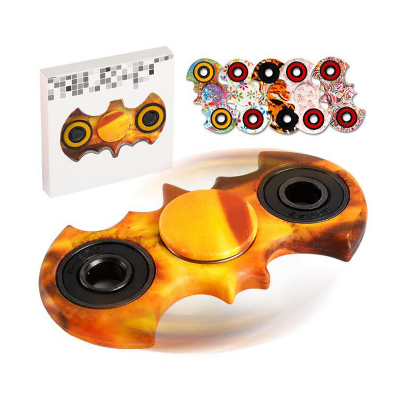 Batman Style Hand Spinner Plastic Fidget Spinners Stress Cube Hand Spinner For Kid Toy ADHD EDC