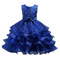 High Quality New Lace Girl Dress For Summer Sleeveless Ball Gown Cake Princess Dress Kids Dresses