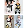 Infantis Do Bebê Conjuntos de Roupas de Bebê Menino Roupas de Manga Comprida T-shirt + Pant Crianças Outono Inverno Recém-nascidos Da Criança Monstro bebê Roupas de Menina