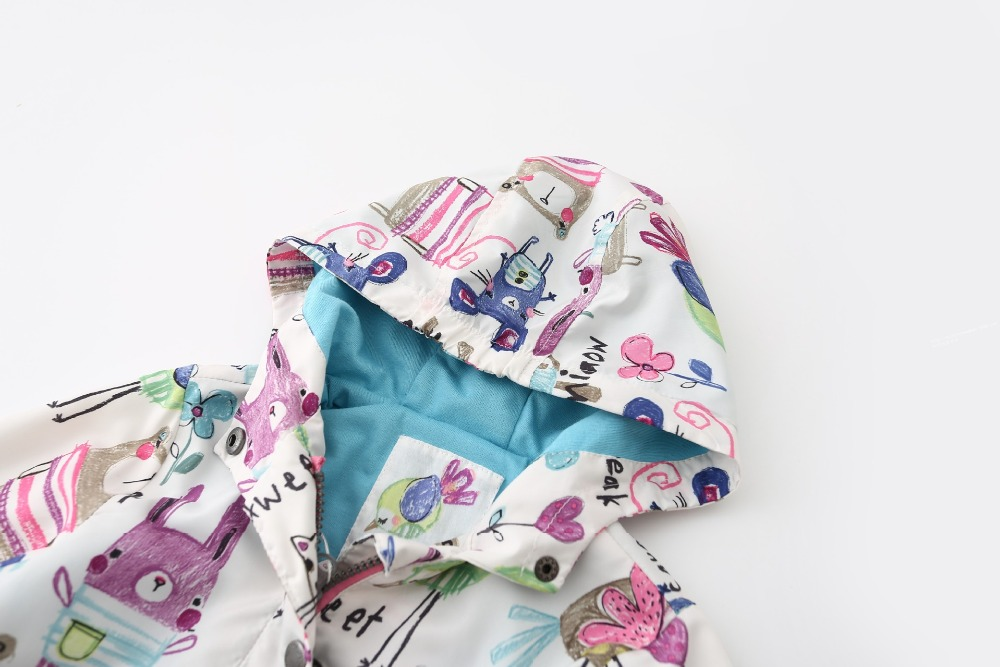 2016 Next Style Autumn Cute Baby Girl Coat Print Cartoon Hooded ...