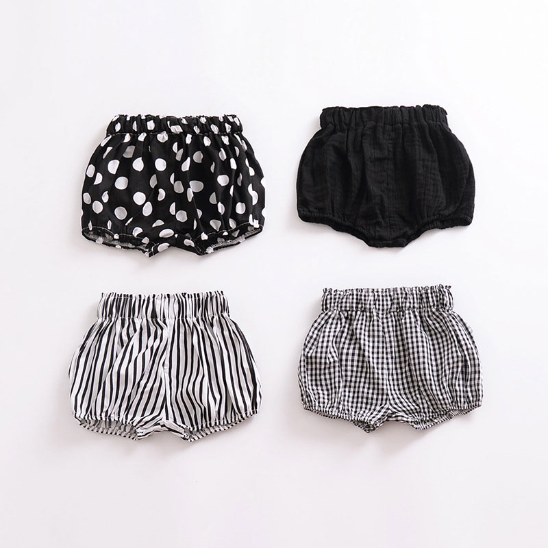 Summer New Baby Girls Shorts Beach Clothings Cotton Print Dots 0-5year Girls Fashion Casual Shorts briefs baby girls clothing
