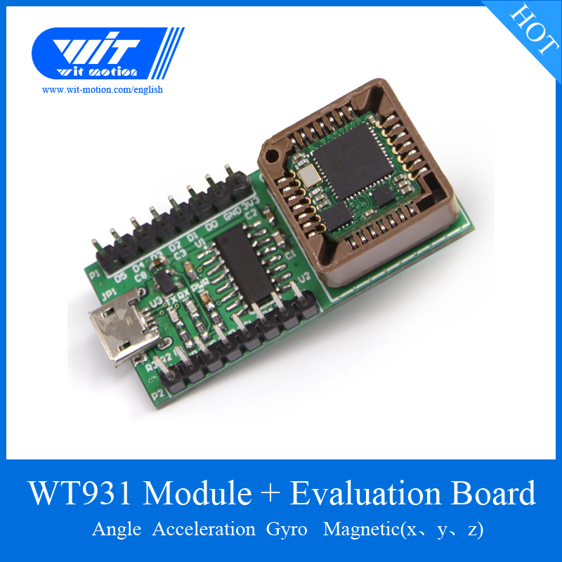 US $24 7 5% OFF|WitMotion WT931 IMU Sensor 500Hz AHRS 3 Axis Accelerometer  Gyroscope Angle Magnetometer MPU 9250 Module For PC/Android/Arduinos-in