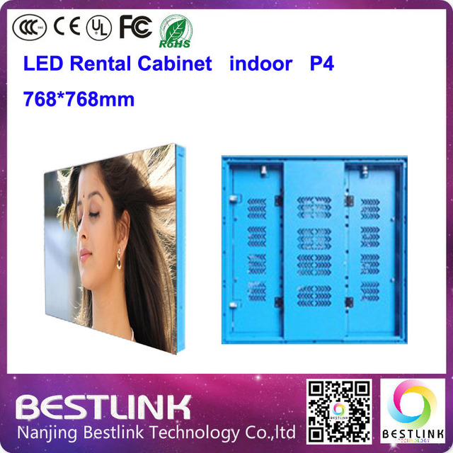 768 * 768 mm p4 interior levou gabinete aluguel alimentação para display led outdoor tela led eletrônico publicidade placar parede de vídeo