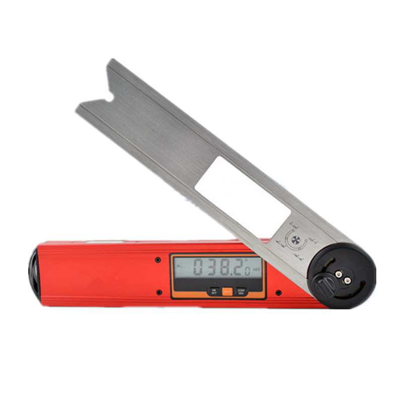 Digital Range 0 225 Degree Stainless Steel Angle Measuring Ruler Woodworking Carpenter Tool Protractor Goniometer High Quality