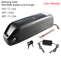 36V 17.4Ah 48V 12Ah 17.5Ah Lithiumlon E Bicycle Battery With Charger for Electric Bicycle motor Inset Samsung Cells