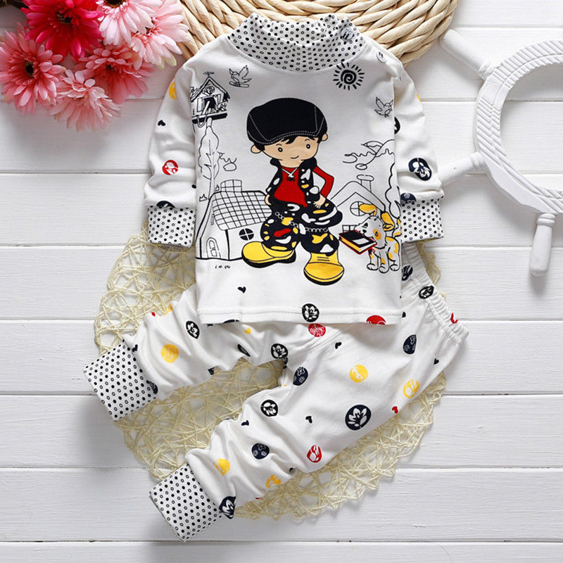 Toddler-Baby-Boys-Girls-Long-Sleeve-Pyjamas-Captain-Giraffe-Rabbit-Print-Pajamas-Set-Nightwear-T-shirt-Pants-Kids-Sleepwear-21-4