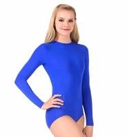 Womens Long Sleeve Leotard Girls Ballet Dance Unitard For Lycra Spandex Bodysuit Gymnastics Suit